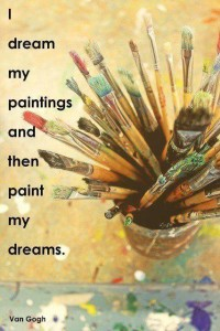 i dream my paintings and than paint my dreams