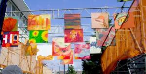 oranje schilderijen parade